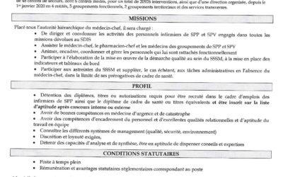 Le SDIS 79 recrute un cadre de santé